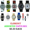 CLOSEOUT ASSORTED 24PCS LADIES WATCHES