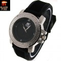 Ladies OR mid size  Hip Hop Iced Out BLACK FIRE Watches, inside the dial pave look eye catching Swiss Design Dial watch and premium quality bullet band, Dimensions are 42mm wide and 15mm thick.. looks very elegant and expensive...