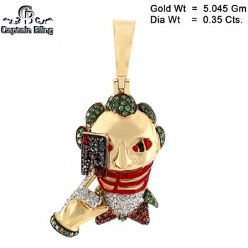10KT DIAMOND PENDANT  ALL DIAMOND WEIGHT ARE APPX  PICTURE ARE SHOWN ENLARGE TO SHOW DETAILS  ALL RIGHT RESERVED