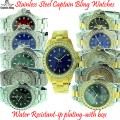 CAPTAIN BLING STAINLESS STEEL WATCHES