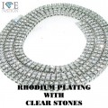 2 ROW RHODIUM WITH CLEAR STONES