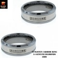 TUNGSTEN CARBIDE RINGS WITH GENUINE DIAMONDS, & ALL RINGS ARE IN COMFORT FIT BANDS