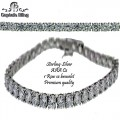 STERLING SILVER ONE ROW TENNIS BRACELET