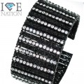 Fashion 12 row stone bracelet 9 inches