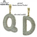 10KT DIAMOND BUBBLE INITIAL PENDANT