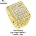 Micro pave Rings are made of Brass casting with high quality AAA grade CZ stones, finished a thick layer of Rhodium,Gold Plating and Gun metal for long lasting shine each piece looks and feels like genuine diamond.