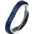 Fashion 3 row stone bracelet