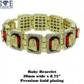 FASHION RUBY BRACELET WITH PREMIUM QUALITY