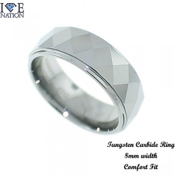 TUNGSTEN CARBIDE IP PLATING 8MM COMFORT FIT BAND.  PLEASE VISIT OUR SITE FOR MORE AND OTHER VARIETY WWW.DIRECTSILVERFACTORY.COM
