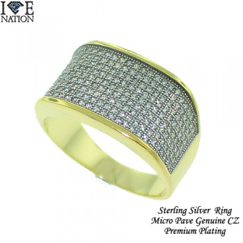 Micro pave Rings are made of  Sterling Silver casting with high quality AAA grade CZ stones, finished a thick layer of Rhodium for long lasting shine each piece looks and feels like genuine diamond.