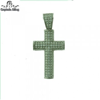 STERLING SILVER MICRO PAVE CZ PENDANT,