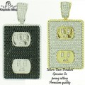 Micro pave Pendants are made of Brass casting with high quality AAA grade CZ stones, finished a thick layer of Rhodium,Gold Plating and Gun metal for long lasting shine each piece looks and feels like genuine diamond