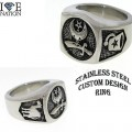 STAINLESS STEEL CUSTOM DESIGN AND HEAVY DUTY RING.. ONLY @ www.directsilverfactory.com