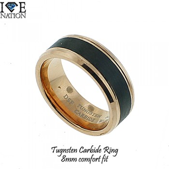 Tunsgsten carbide ring 8mm comfort fit band