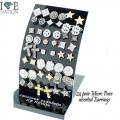 Fashion 24 pair assorted Micro Pave Earrings  comes with stylish Black display