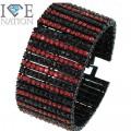 Fashion 12 row stone bracelet 9 inches