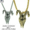 STAINLESS STEEL PENDANT + NECKLACE SET