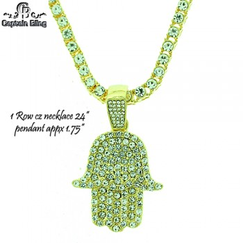 1 ROW NECKLACE WITH MICRO PAVE SETS