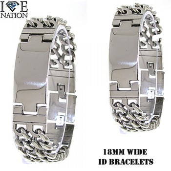 STAINLESS STEEL DESIGNER STYLE BRACELETS.  YOUR DIRECT SOURCE FOR WHOLESALE STAINLESS STEEL JEWELRY @ WWW.DIRECTSILVERFACTORY.COM