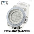 Mens hip hop Iced Out Ice Nation Watches, inside the dial pave look eye catching Swiss Design Dial watch and premium quality bullet band, Dimensions are 55mm wide and 16mm thick..