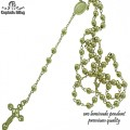 Oro Laminado Rosary with premium plating.