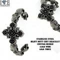STAINLESS STEEL HEAVY DUTY BRACELET ONLY @ WWW.directsilverfactory.com