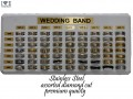 STAINLESS STEEL RING DISPLAY  COMES WTIH 63 PCS ASSORTED MM AND ASSORTED SIZES  FREE DISPLAY  $1.75 EACH X 63 PCS = $110.50