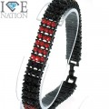 Fashion 3 row stone bracelet 9 inches
