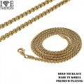 FASHION 3MM ROLO  NECKLACE PREMIUM PLATING MADE IN KOREA