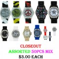 WHOLESALE CLOSOEUT LADIES 50 PCS ASSORTED WATCHES