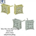 MICRO PAVE CZ EARRING PREMIUM QUALITY WITH SCREW BACK SETTING.