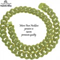 MICRO PAVE CUBAN NECKLACE WITH BAGUETTE