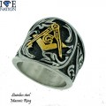 STAINLESS STEEL MASONIC RING