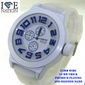 Mens casual watches with heavy duty case and heavy duty Silicone  band retail up to $29.95