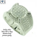 STERLING SILVER MICRO PAVE RING GENUINE CZ PREMIUM QUALITY STONES AND PREMIUM PLATING
