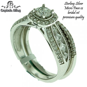 STERLING SILVER WEDDING BAND PREMIUM CUTS AND PREMIUM QUALITY