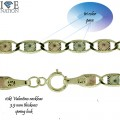 10KT VALENTINO GOLD NECKLACES   VAL STAR 060 4MM THICKNESS  COMES WITH SPRING LOCK