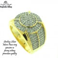 STERLING SILVER MICRO PAVE CZ RINGS,