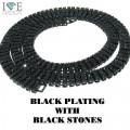 3 ROW BLACK WTH BLACK STONES