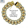MICRO PAVE CZ CUBAN BRACELET MADE IN KOREA PREMIUM PLATING